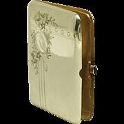 A Russian Imperial silver cigar case, Nikolai Vasiliev Maslov, Moscow, circa 1908.