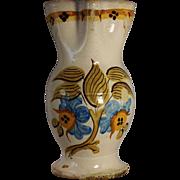 A large early 19th century Spanish majolica pitcher, Talavera or Puente del Arzobispo, Toledo,