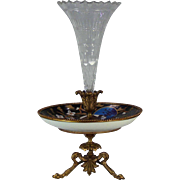 An American Aesthetic movement Epergne, possibly painted by Ena Hutchinson (1861-1930). Circa