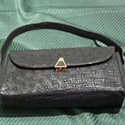 Vintage Ostrich Handbag from Post-War Germany