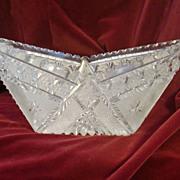 Stunning unusual cut crystal dish very precise cuts