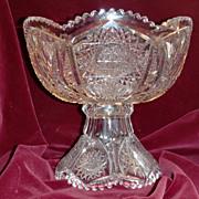 American brilliant cut glass punch bowl ABP superb cuts c.1905