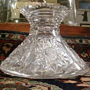Rare American Brilliant cut glass flower vase ABP c.1905