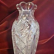 American Brilliant vase exceptional quality c.1905 ABP