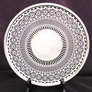 REDUCED Vintage Sheffield Bernard Rice & Sons - Reticulated Serving Plate