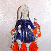 REDUCED Staffordshire Prince of Wales with Bird