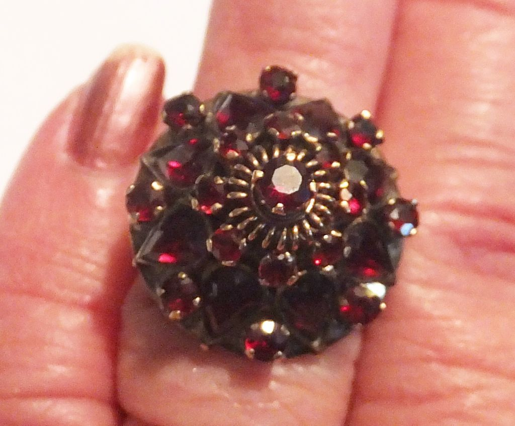 vintage 14k gold princess garnet ring 1950 s 1960 s