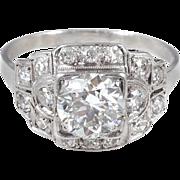 Radiant 1.05 carat Platinum Diamond Ring