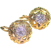 Diamond Earrings within a Golden Aura