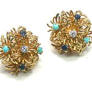 Tiffany & Co 18kt Gemset Earclips