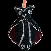 Antique Velvet Vampire Bat Pin Cushion, c1900