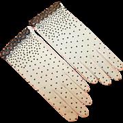 Beaded Cocktail Gloves Vintage c1955 Hong Kong
