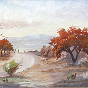 "SALE 1968 ""Late Fall"" Minniebell McKaughan Perkins Texas Landscape Oil Painting"