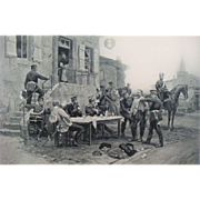 SALE Antique 1894 The Spy A. de Neuville (1835–1885) Photogravure Print
