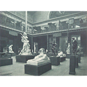 SALE Antique 1893 Chicago World's Fair Photogravure Print Fine Arts Building