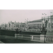 SALE Antique 1893 Chicago World's Fair Photogravure Print View From Court of Honor
