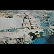 SALE Oroville Dam Construction NOS New Old Stock Vintage Postcard Roadside