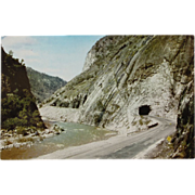 SALE Feather River Canyon California Roadside Tunnel Vintage NOS New Old Stock Postcard