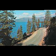 SALE Roadside Scene Lake Tahoe Vintage NOS New Old Stock Postcard 1950s