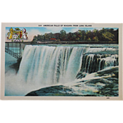 SALE American Falls of Niagara From Luna Island NOS Vintage New Old Stock Postcard