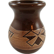 SALE Signed Marion Selwyn Sioux Native American Pottery Vase