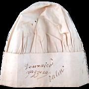 SALE Dominico Zazzero Palm Signed Vintage Top Chef Hat