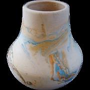 SALE Vintage Nemadji Art Pottery Vintage Swirled Multi Color Original Vase