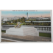 SALE Tomb of the Unknown Soldier Arlington Virginia Vintage NOS New Old Stock Postcard