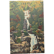SALE Silver Cascade White Mountains New Hampshire Vintage NOS New Old Stock Postcard