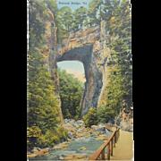 SALE Natural Bridge Virginia Vintage NOS New Old Stock Postcard