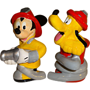 SOLD Disney Mickey Mouse and Pluto Salt and Pepper Shakers