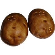 SALE Pair of Baked Potatoes Salt and Pepper Shakers