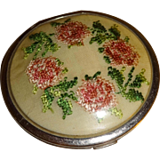 SALE Ladies Hand Embroidered Double Compact