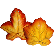 SALE Fall Leaves Salt and Pepper Shakers
