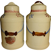SALE Shawnee Pottery Milk Cans Salt and Pepper Shakers