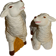 SALE Fluffy Sheep Salt and Pepper Shakers