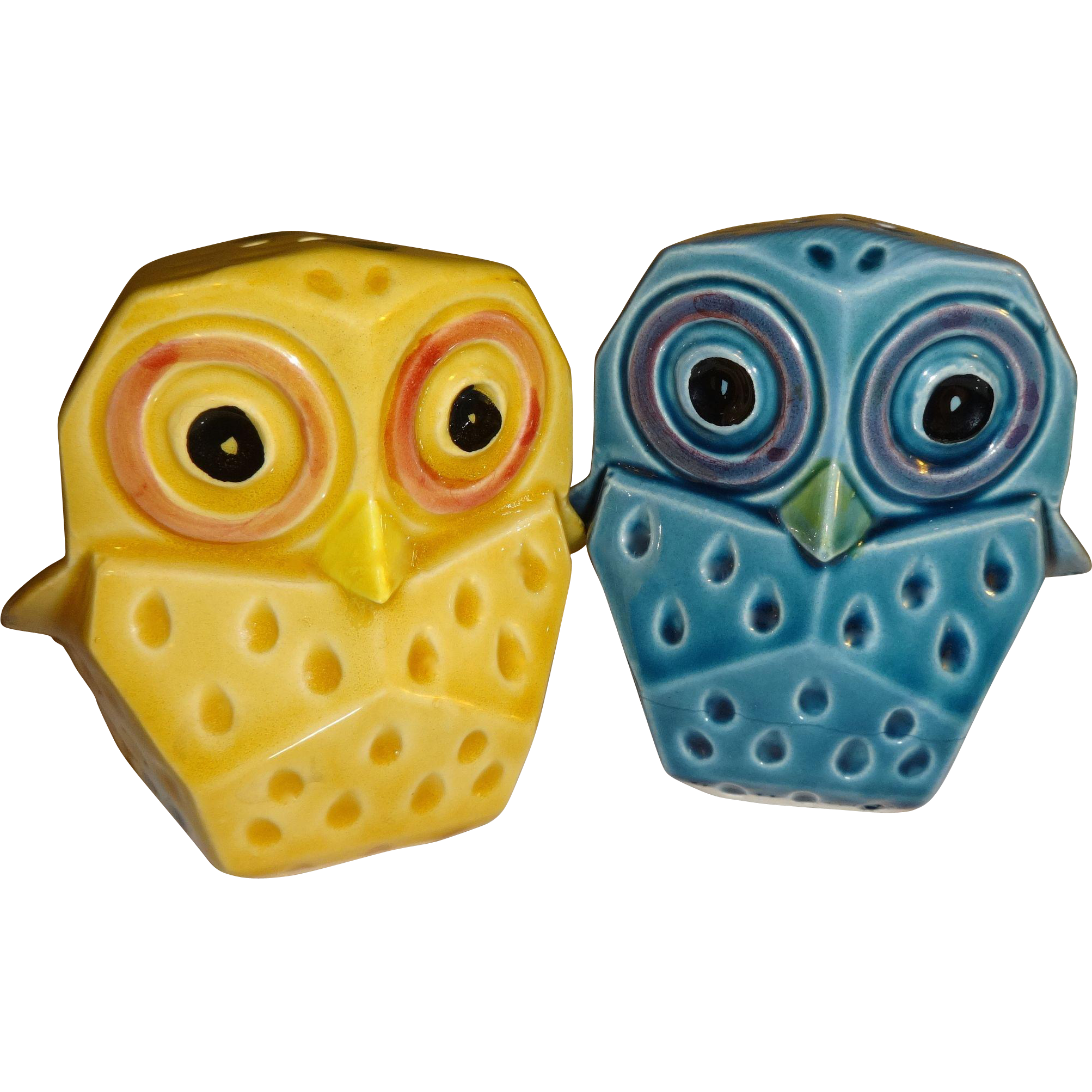 Lefton colorful owl salt and pepper shakers made in Colorful salt and pepper shakers
