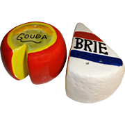 SALE Miniature Brie and Gouda Cheese Salt and Pepper Shakers