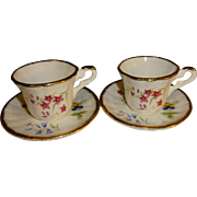 SALE Fenton China Company English Bone China Mini Teacups and Saucers Set