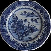 SALE 18th Century Chinese Porcelain Qianlong Period Pavilion Pattern Plate