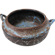 SALE Wonderful Neolithic Style Stoneware Bowl