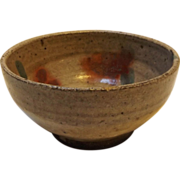 SALE Japanese Lead Glazed Stoneware Rice Bowl