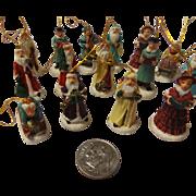 SALE Vintage Ceramic Miniature Christmas Tree Ornament Set