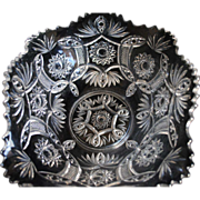SALE Vintage Victorian Style Pressed Glass Centerpiece Bowl