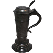 SALE Unique circa 1900 Swedish Pewter Stein