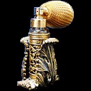 SALE Vintage Artemisia Leaf Ormolu Wrapped Perfume Atomizer