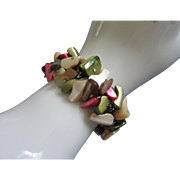 SALE Dyed Shell Cha Cha Expansion Bracelet, Made in Japan