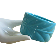 SALE Wide Turquoise Plastic Bangle Bracelet