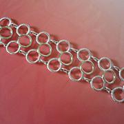 SALE Sarah Coventry Silver Tone Circles Bracelet