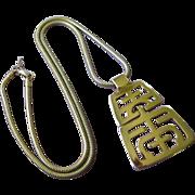 SALE Trifari Gold Tone Articulating Pendant Necklace